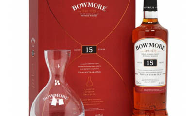 Win Bowmore Whisky & Decanter with Filippo Berio