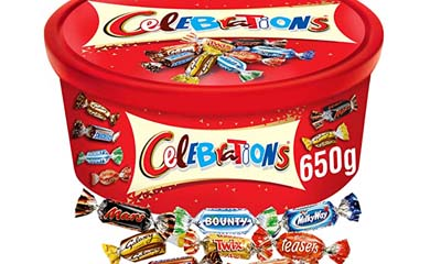 Free Celebrations Chocolate Tubs