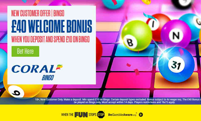 Spend £10, get £40 Bingo Bonus