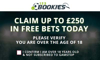 £250 in Free Bets with 123 Bookies