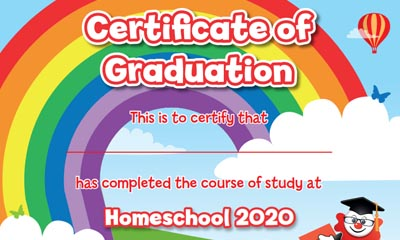 Free Home School Certificate of Graduation
