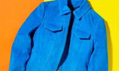 Win a Karen Millen Blue Suede Jacket