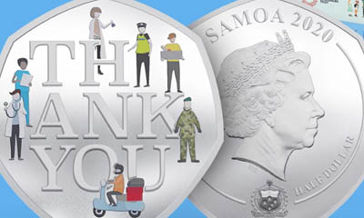 Free 'Thank You' to Key Worker Coins