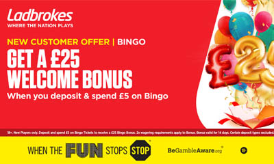 Spend £5, Get £25 Bingo Bonus