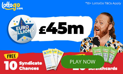 £45EuroMillions Rollover Plus 20 scratchcards FREE