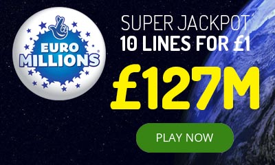 £127m Euromillions Jackpot - 10 Tickets for £1