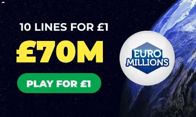 £70m Euromillions Jackpot - 10 Tickets for £1