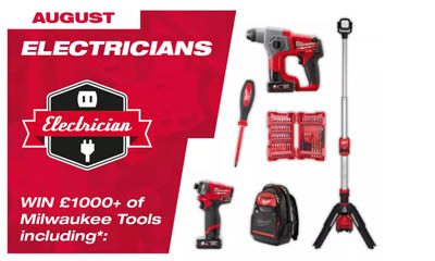 Win £1,000 worth of Milwaukee Tools