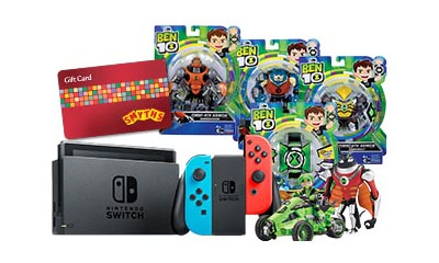 Win a Nintendo Switch & Ben 10 Toys