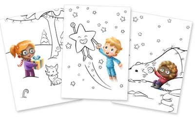 Free personalised Christmas Colouring Book