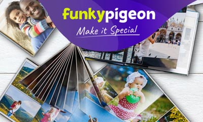 Free Photobook from Funky Pigeon