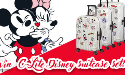 Win a Samsonite C-Lite Disney Suitcase Set