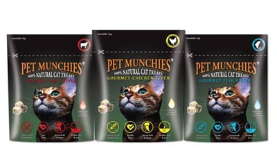Free Sets of Pet Munchies for Cats