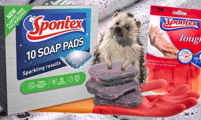 Free Spontex Soap Pads & Tough Gloves