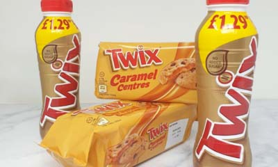 Free Twix Caramel Biscuits & Milk Drinks