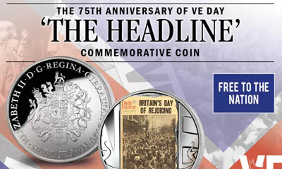 Free VE Day Commemorative Coin