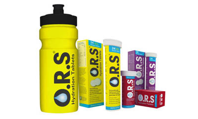 Free O.R.S Water Bottles & Hydration Tablets