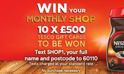 Win 1 of 10 £500 Tesco Gift Cards