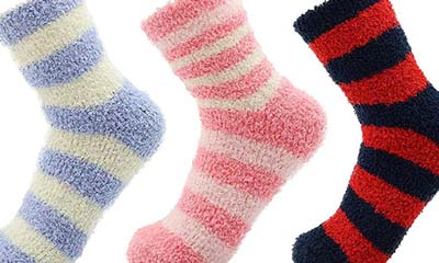 Free Fluffy Fleece Bed Socks