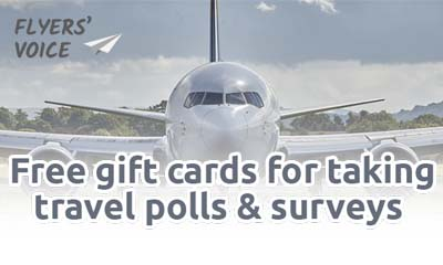 Free Gift cards for answering Air Travel Questions