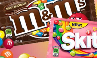 Free M&M's or Skittles Hamper