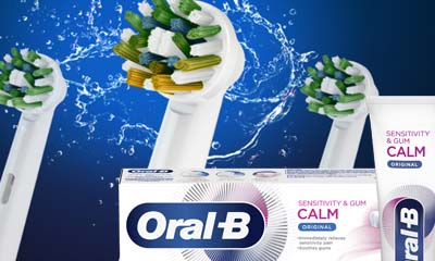 Free Oral-B Brush Heads & Calm Toothpaste