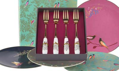 Win Portmeirion Pastry Forks & Cake Plates