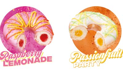 Free Raspberry Lemonade or Passionfruit Party Doughnuts
