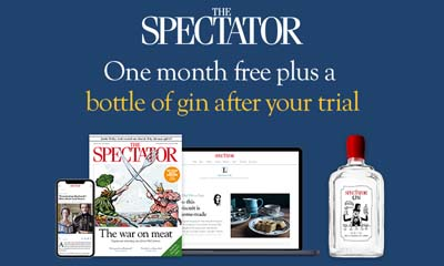 Spectator Magazine - 1 Month Free + Free Bottle of Gin